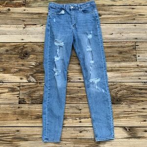 Divided | Shredded Skinny High Waisted Jean Size 8